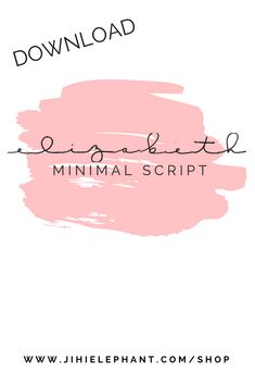 This is a hand-drawn font based on the standard minimal cursive used in Jihi Elephant Bullet Journals.
