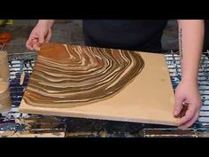 (31) Acrylic Pour, Aiming for a Geode Style - YouTube