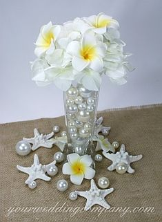 Plumeria (Frangipani) foam flowers - Use them for table decorations, hair accessories, cake decorations or incorporate into your bouquet or centerpieces. A perfect decoration for a tropical or beach wedding theme or luau.