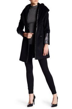 Faux Leather Marla Coat