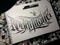 Chicano Tattoos Lettering, Tattoo Lettering Fonts, Lettering Ideas, Graffiti Lettering, Typography Fonts, Lettering Design, Logo Design, Letras Tattoo, Tattoo Flash Sheet