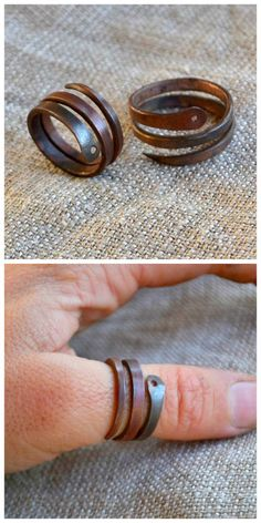 DIY Wire Serpent Ring Tutorial from Instructables' User marcellahella.This DIY Wire Serpent Ring is made from 10 gauge copper wire. The wire has been annealed (annealing is when you heat metal, then cool it slowly). Instead of punching a hole in the copper for the serpent's eye, you could use a sparkly flat backed gem.