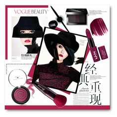 """""""VOGUE BEAUTY"""" by svijetlana ❤ liked on Polyvore featuring beauty, Laura Geller, Urban Decay, Guerlain, Bobbi Brown Cosmetics, Maybelline, Beauty, blackeyeshadow, polyvoreeditorial and redlipstic"""