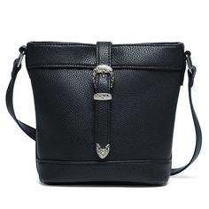 Handtas zwart met gesp