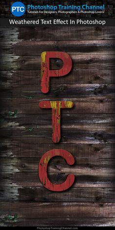 Learn to create a realistic wood weathered text effect in Photoshop.