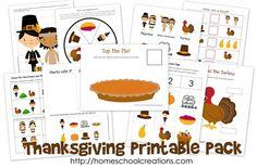 Thanksgiving free preschool printables!