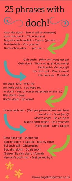 German vocabulary - doch!