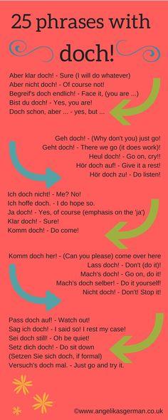 German vocabulary - doch!