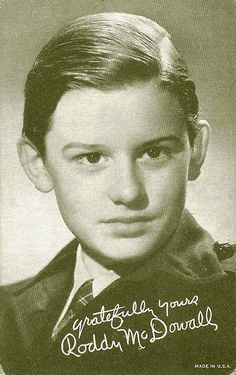 Roddy McDowall, Film Actor (Movie Star) - (1928-1998) - Born in England. Full name was Roderick Andrew Anthony Jude McDowall. Remembered best for the films 'How Green Was My Valley' and Planet of the Apes'
