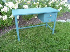 Aubusson Blue Desk