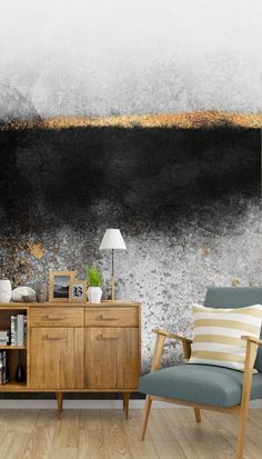 If you love the dramatic contrast of light and dark, then this Soot and Gold wallpaper will be ideal for your home or workplace. Imagine this aesthetic mural in your living room. Set it behind your sofa or on your chimney breast as a main focal point. Find light-coloured décor in shades of white or grey. Choose golden accessories such as lamps and ornaments to bring out the gold in this beautiful mural. Discover more from Wallsauce! #wallpaper #wallsauce #homedecor #interiordesign Tropical Wallpaper, Gold Wallpaper, Chimney Breast, Nordic Living, Shades Of White, Kitchen Colors, Room Set, Designer Wallpaper, Colorful Decor