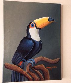 Toucan Painting by Orhun Tastekin