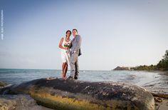 bride and groom beach portrait | playa del carmen, Mexico destination wedding | sandos caracol wedding pictures