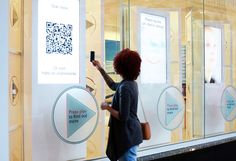 HSBC Retail Interactive Touch Screen Window Display Using QR Codes    032 Design Ltd, Leic, UK