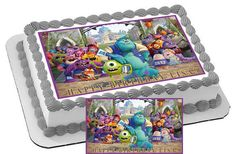 Monsters Inc University Personalized Edible Cake & Cupcake Topper Birthday Party Decoration by CakeTopperSpecialist on Etsy