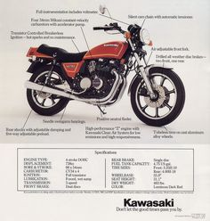 Kawasaki KZ 750 Cars And Motorcycles, Retro Vintage, Advertising, Bike, Japan, Classic, Poster, Motorbikes, Projects