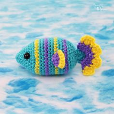 Crochet Mouse, Crochet Geek, Love Crochet, Single Crochet, Beginner Crochet, Easy Crochet, Crochet Fish Patterns, Crochet Amigurumi Free Patterns, Crochet Turtle