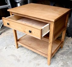 Nightstand stained with Rustoleum Early American