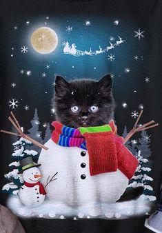 Hello Kitty Christmas, Christmas Cats, All Things Christmas, Christmas Stockings, Black Christmas, Beautiful Christmas, Vintage Christmas, Pretty Cats, Pretty Kitty