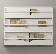 Weathered Wall Bookrack   Storage & Organization   Restoration Hardware Baby & Child On sale for $125