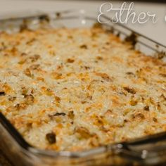 A rich and creamy cheesy potato casserole! Ranch, bacon and cheese combined with hash brown potatoes to make creamy cheesy goodness. Add chopped onions if you'd like! Note: if you'd like, you can separate this recipe into 3 8x8 disposable pans and freeze
