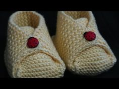 r iki taraftaki ilmekler bitene kadar devan ettik, Baby Booties Knitting Pattern, Knitting Patterns, Crochet Patterns, Crochet Bebe, Knit Crochet, Crochet Collar, Baby Slippers, Baby Boots, Lana