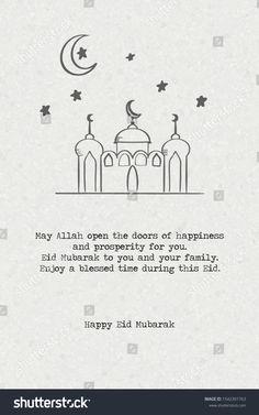 happy eid mubarak typography slogan illustration on paper background, hand drawn style design, card illustration vector (Greeting). Feliz Eid Mubarak, Feliz Eid Al Adha, Happy Ied Mubarak, Eid Mubarak Gif, Eid Mubarak Wishes Images, Eid Mubarak Quotes, Happy Eid Al Adha, Eid Mubarak Greeting Cards, Eid Mubarak Greetings