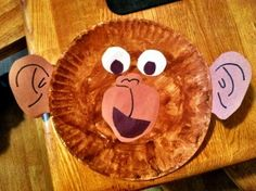 Monkey Paper Plate Face. We did this craft to go along with the book From Head to Toe