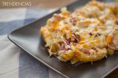 Receta de bacon cheese fries