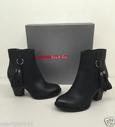 save off 68dfc eee4d LifeStride 2074 Womens Keynote Black Ankle BOOTS Shoes 10 Medium (b M) BHFO  for sale online   eBay