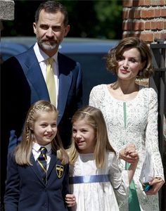 Spanish Royals attended the First Communion of Princess Leonor of Spain on May 20, 2015 in Aravaca, Spain.