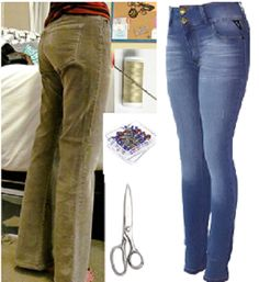 Como entubar jeans de manera perfecta en 2 simples pasos2 Old T Shirts, Sewing Hacks, Sewing Ideas, Refashion, Dressmaking, Blue Jeans, Sewing Patterns, Clothes For Women, Farmer