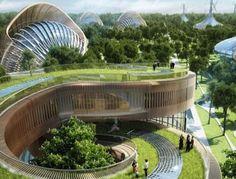 """L'eco-quartiere che produce energia e cibo: è """"Flavors Orchards"""", nato dall'idea di Vincent Callebaut"""