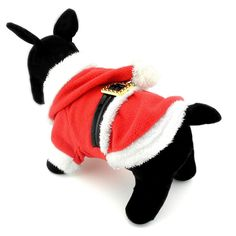 ZUNEA Pet Apparel Small Dog Cat Clothes Winter Fleece Santa Claus Costume Chirstmas Xmas Party Clothing Red *** Want to know more, click on the image. (This is an affiliate link and I receive a commission for the sales)