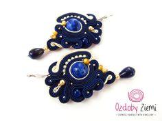 Soutache Earrings Dewi Air will add glamour to any by OzdobyZiemi #OzdobyZiemi #SoutacheJewelry #soutache #jewelry #earrings #soutacheEarrings #handmade