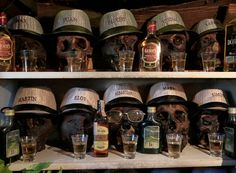 """Skulls are seen at the witch doctor kiosk during the day of offerings to the """"Pachamama"""" (Mother Earth) in El Alto, Bolivia, August 1, 2016. (Photo by David Mercado/Reuters)"""
