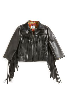 This cute little faux leather fringe jacket is so boho-chic with a dash of rockstar!