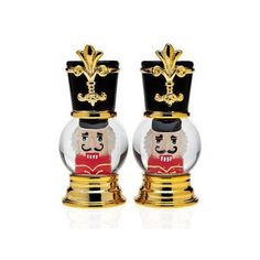 Nutcracker Globe Salt and Pepper Shakers. Nutcracker Christmas, Salt And Pepper Set, Kitchen Tools And Gadgets, Toy Soldiers, Salt Pepper Shakers, All Things Christmas, Designer Collection, Spice Things Up, My Design