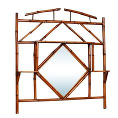 Antique Bamboo Wall Mirror