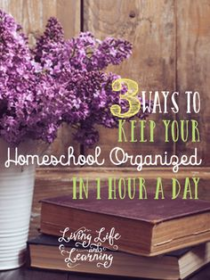 Tips to help you keep your homeschool organized in only 1 hour a day in order to keep your sanity