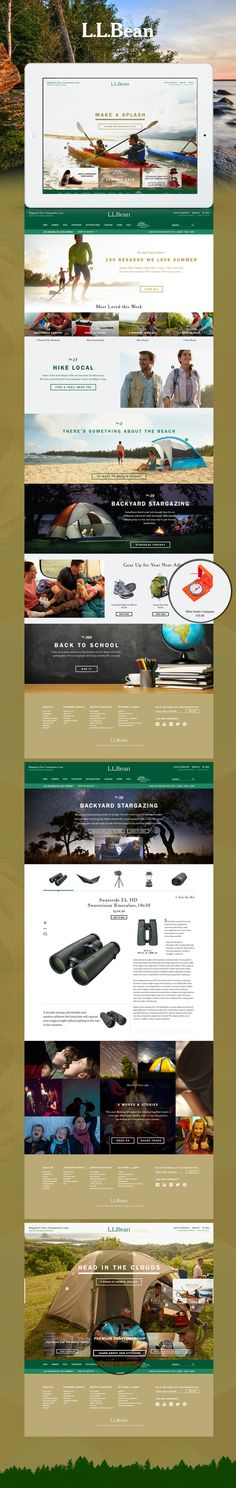 How about this L.L. Bean web design? Does this make you want to get outdoors like it does us? #webdesign #photography #gridlayout