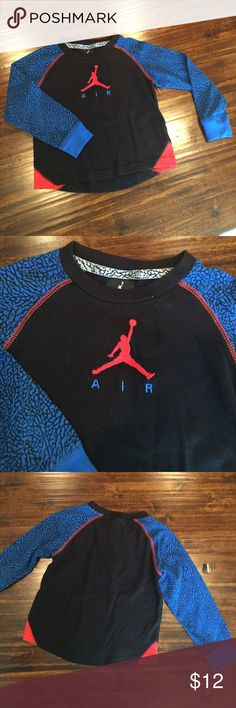 Air Jordan Long Sleeve Tee Black, royal blue and an orange red. Great condition. Bundle and save more. Air Jordan Shirts & Tops Tees - Long Sleeve