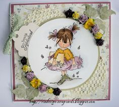 bestdress Lily Of The Valley, Homemade Cards, Card Ideas, Decorative Plates, Stamp, Girls, How To Make, Daughters, Stamps