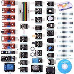 37 in 1 Sensoren Starter Kit Zip Module Bundle Pack Arduino Raspberry Pi Box Set