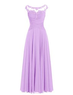 Diyouth Long Cap Sleeves Scoop Neck Pleated Chiffon Bridesmaid Dress Lavender Size 18W Diyouth http://www.amazon.com/dp/B00XU53JI2/ref=cm_sw_r_pi_dp_47eaxb0AQWX81