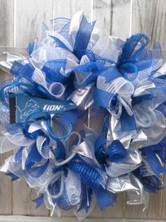 Check out this item in my Etsy shop https://www.etsy.com/listing/204415126/detroit-lions-front-door-wreath