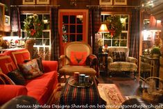 Textiles- rugs, upholstery, pillows and curtains in a Beautiful Cabin Lodge Living Room Renovation