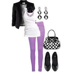 Lilac w/Black & White