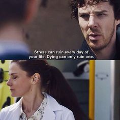 """Sherlock: """"I'm worried about you, Molly. You seem very stressed."""" Molly: """"I'm stressed, you're dying!"""" Sherlock Season 4 Episode 2 TLD S04 E02."""