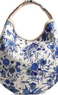 Tom Ford for Gucci Blue And White Shoulder Bag | VAUNTE